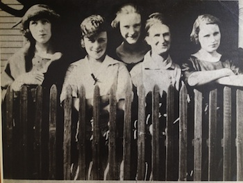 Grandma (far right) with her sisters and Mother.