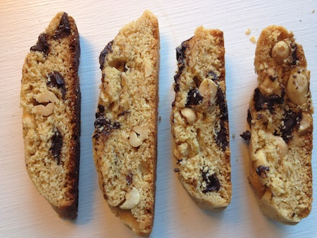 Chocolate Peanut Biscotti