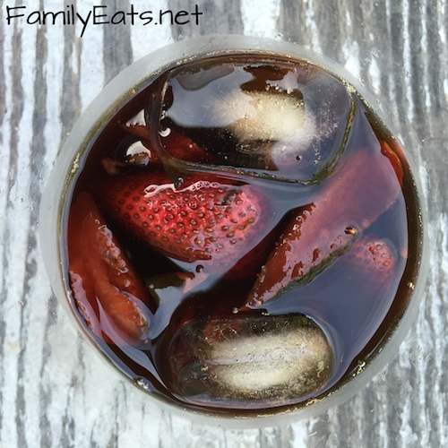 Strawberry, Peppercorn and Balsamic Shrub.