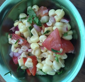 A refreshing summer corn salad